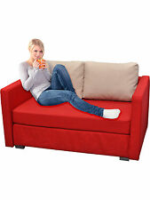 """VCM 2er Couch """"Engol Rot"""" / Sofa mit Schlaffunktion"""