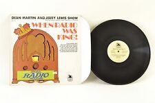 "When Radio Was King! (Dean Martin And Jerry Lewis Show) – 12"" Vinyl LP–‎MLP 714"