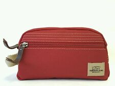 Timberland Canvas Travel Kit Shaving Dopp Toiletry Bag w/Patch Red #:NP0302-05