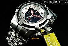 Invicta Men's 53mm Reserve Bolt Zeus Swiss Chrono Black Dial Red Accent SS Watch