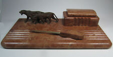 Antique E.G. Zimmerman Hanau Germany Marble and Bronze Desk Set