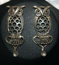 Sterling Silver 925 Set of 2 Owl Pendants