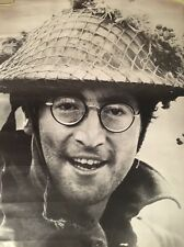 original vintage poster John Lennon The Beatles 1967 pin-up Army Helmet glasses