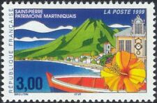 France 1999 Martinique/Mountain/Boat/Flower/Clock Tower/Animation 1v (n37370)