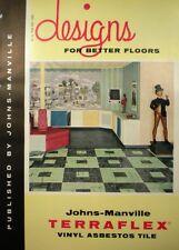 Johns Manville TERRAFLEX Vinyl Asbestos Flooring Asphalt Tile Catalog 1957