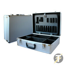 Electricians Aluminium Lockable Silver Tool, Flight case, Organiser storage Box