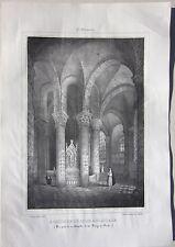 1838 SAINT MENOUX Abside eglise Sagot Achille Allier Desrosiers Souvigny Moulins
