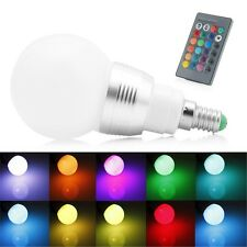 E14 85-265V 10W RGB LED Light Color Changing Lamp Bulb + Remote Control