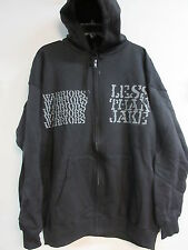 NEW - LESS THAN JAKE BAND CONCERT MUSIC ZIP UP HOODIE SWEATSHIRT EXTRA LARGE