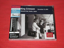 KING CRIMSON Collectors' Club 1981, 12/13, Mainichi Hall, Osaka  JAPAN CD