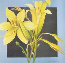 Heinz Hock giglio giallo Poster Kunstdruck Bild 70x70cm - Kostenloser Versand