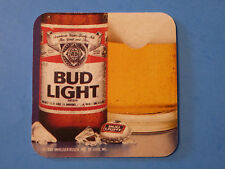 Beer Bar COASTER: Anheuser-Busch BUD LIGHT 1989 Choicest Hops, Rice, Barley Malt