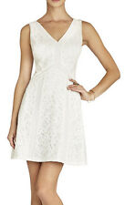 "$338 BCBG OFF WHITE COMBO ""GRACIE"" SEQUIN LACE SLEEVELESS A-LINE DRESS NWT 10"