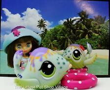 ☀LITTLEST PET SHOP☀SWIM & SUN GREEN PASTEL WHALE #1852☀NEW☀BLYTHE POSTCARD FISH☀