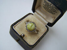 GORGEOUS VINTAGE STERLING SILVER CONNEMARA MARBLE & MARCASITE RING RARE SIZE Q
