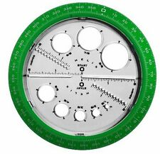 Helix Angle And Circle Protractor - Plastic - Assorted (HLX36002)