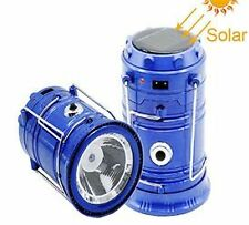 Portable LED Solar Power Camping Tent Rechargeable Lantern Lamp With USB Charger
