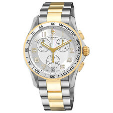 Swiss Army Victorinox 241509 Mens Chrono Classic Gold Silver Watch NEW
