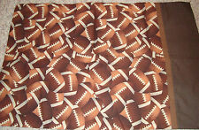 PILLOW CASE FOOTBALLS, On Both Sides, OR FOR CRAFTS, MATERIAL SEWING RARE CLEAN