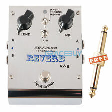 Biyang ToneFancier RV-8 Electric Guitar Effect Pedal Stereo Reverb True Bypass
