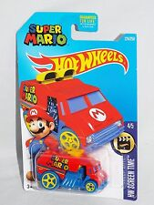 Hot Wheels 2016 Screen Time 4/5 #224 Super Mario Cool-One Red & Blue w/ 5SPs