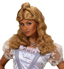Ladies Long Blonde Wig Goldilocks Rapunzel Cinderella Alice Fairy Tale Fancy Dre