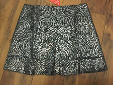 SEXY Glamour Jacquard Skirt, navy/silver  - PLUS SIZE 18 - BNWT party/wedding