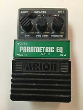 Arion SPE-1 Parametric Equalizer EQ Rare Vintage Guitar Effect Pedal MIJ Japan