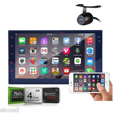 "1080P GPS Navigation 7"" Double 2Din Car Stereo WiFi 3G iPod Bluetooth BT+Camera"