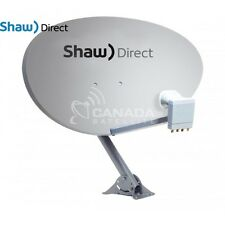 "Shaw Direct 75E (37"") Satellite Dish w/ xKu Quad LNB"