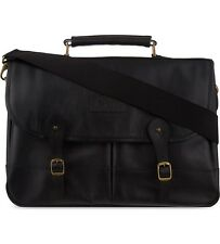 Barbour Leather Briefcase Black RRP249£!!