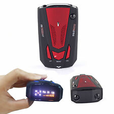 New Car Radar Detector 16 Band Voice Alert Laser V7 LED Display RED FTS