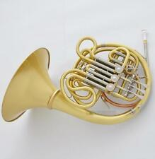 Professional Matte Brass Double French Horn F/Bb Key 103 Model With Case