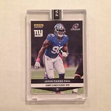 #498 Jason Pierre-Paul Giants / South Florida 2016 Panini Instant Black 1/1 made
