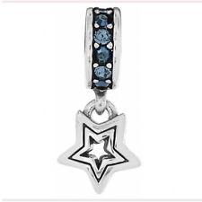 Brighton Dangling Shooting Star w/ Blue Swarovski Crystals Spacer Charm Bead