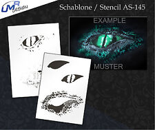 Step by Step Stencil Tattoo ~~ UMR Airbrush Schablone AS-145 M
