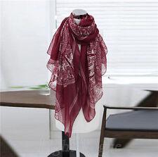 New Fashion Women Lady Long Soft Cotton Print Scarves Shawl Wrap Scarf