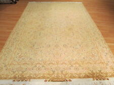 7x10 PERSIAN 50 RAJ Tabriz Heriz MUTED SIGNED Hand-made-knotted Wool/Silk Rug