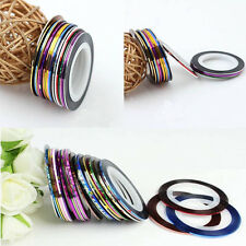 20 PC Mixed Colors Rolls Striping Tape Line DIY Nail Art Tips Decoration Sticker