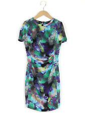 Pied A Terre Womens Emerald Watercolour Floral Dress Size 8