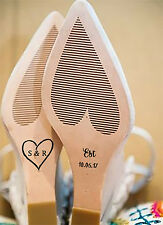 PERSONALISED WEDDING SHOE DECALS / STICKERS BRIDE TO BE, WOODLAND HEART THEME