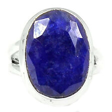 Indian Sapphire Sterling Silver Ring Jewelry s.7.5 SAPR846