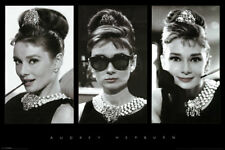 """AUDREY HEPBURN """"BREAKFAST AT TIFFANY'S"""" COLLAGE POSTER - LARGE SIZE 24 x 36"""