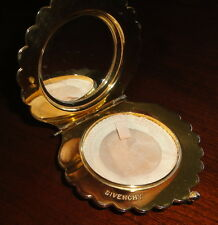 Givenchy Gold Tone Clam Shell Vintage Mirrored Compact