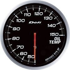 new 60mm advanced oil temp gauge Amber red/ white lights black face auto meter