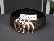 "NWT Laloon Elephant ""The Herd"" Suede Leather Belt Small"
