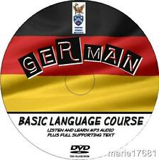LEARN TO SPEAK GERMAN PC DVD  LANGUAGE COURSE EASY BEGINNER PROGRAM MP3+TEXT NEW