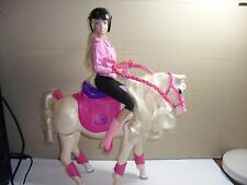 barbie doll,and walking horse,makes horse noises