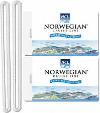 2x Norwegian Cruise Line Luggage Baggage Suitcase Travel Trip Name ID Label Tags