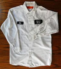 VINTAGE Americano uniforme Camicia Tempo Libero MONDO JIM C 1970s Mens Work Wear